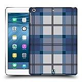Head Case Designs Blau Grau Plaid - Muster Kollektion Ruckseite Hülle für iPad Air (2013)