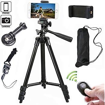 Portable Trépied Appareil Photo Trepied Camera iPhone avec Support et Télécommande Bluetooth pour Smartphone et Appareil Photo