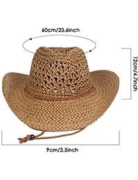 Honmei Hecho A Mano Vendimia Sombrero De Sol Sombrero De Paja De ala Ancha  A Prueba daf73d55450