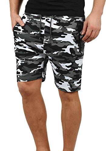!Solid Taras Herren Sweatshorts Kurze Hose Jogginghose Mit Verschließbaren Eingriffstaschen Und Kordel Regular Fit, Größe:M, Farbe:Dark Grey Camouflage (C2890)