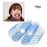 Yidarton Wangenhalter Mundöffner Dental C-Form Mundwinkelhalter 10pc, Mundöffner Challenge (Blue)