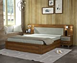 Spacewood Vogue King Size Bed (Woodpore, Natural Teak)