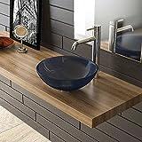 Blau Glaswaschschale Ø 38 Alpenberger Waschschale Aufsatzschale Waschtisch Badezimmer