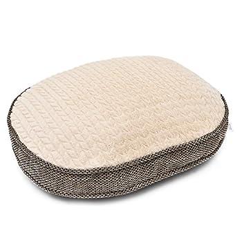 PAWZ Road Matelas épais pour chien Coussin pour gros chien Tapis pour animaux de compagnie lit super doux et confortable pour chiot et chaton coussin en matériaux naturels de coton et lin ( Taille : L )