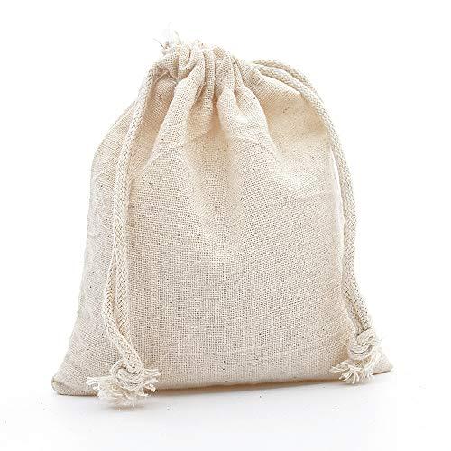 Geschenktüte Gedruckte Baumwolle Muslimischen Drawstring Geschenk Tasche Vanille Tee Hochzeit Party Lieblings Tasche Wiederverwendbare Baumwolltasche Großhandel -