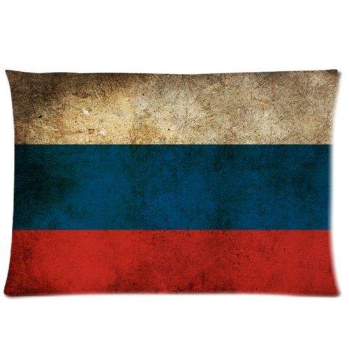 IISSHOP Russische Flagge Neuheit Bettwäsche Kissenbezug Kopfkissenbezug 20 * 30 Zoll (Zwei Seiten)