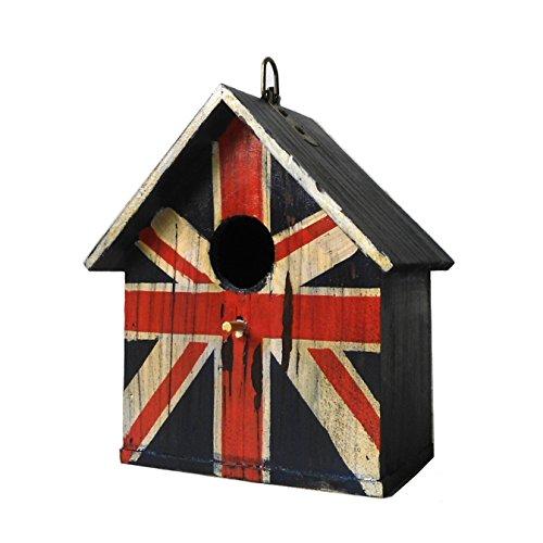 outour® Union Jack Flagge Antik Altes Holz Vogelhaus Vogelhaus/Vogelfutterhaus Cash Münze Sparschwein sparen Pot Geld Box (Altes Geld Und Münzen)