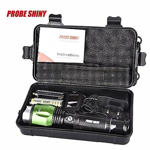 KanLin 5000 Lumen 5-Mode G700 X800 CREE XML T6 LED Zoom Taktische Militär Taschenlampe Super Torch Set Taschenlampe + 18650 + Charger