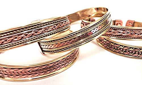 magnetic-copper-bracelet-bangle-pain-relief-therapy-arthritis-unisex-bangle