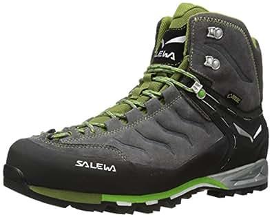 Salewa MOUNTAIN TRAINER MID GORE-TEX - HALBHOHER BERGSCHUH HERREN - Scarpe da Arrampicata Alta Uomo, Grigio (Pewter/Emerald 4052), 39 EU