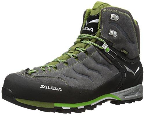 Salewa Herren Trekking- und Wanderstiefel MS MTN Trainer Mid GTX, Grau (Pewter/Emerald 4052), 42.5 EU (8.5 Herren UK)