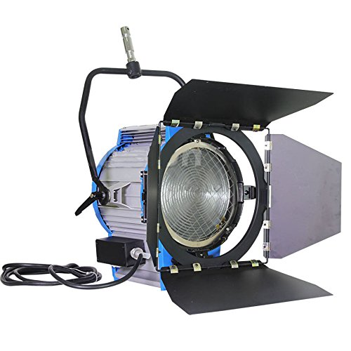 Alumotech 5000watt Pro Movie Fresnel proyector de tungsteno iluminación Studio Video + Bulb + Barndoor