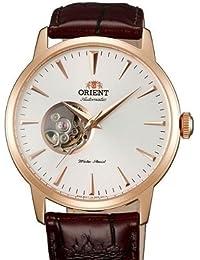 Orient Esteem 21-jewel automático Vestido reloj con correa de piel db08001W