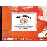 Daler Rowney Langton - Blocco impresso a caldo e gommato, grande, 40,6 x 30,5 cm, 300 g/mq