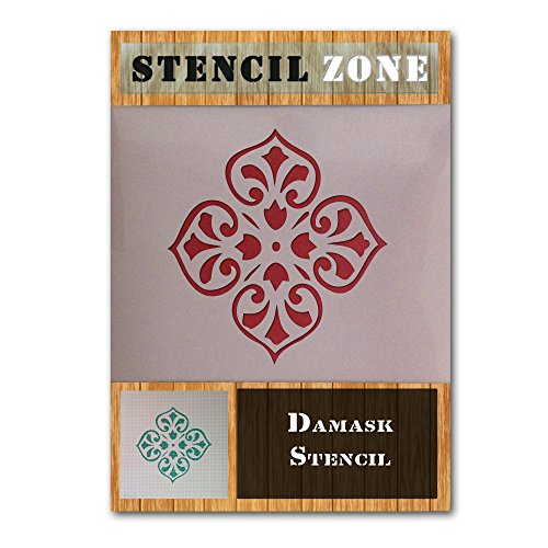 Damast Muster Vintage Shabby Chic Mylar Gemälde Art Wand Schablone 15 A2 Size Stencil - Large (Royal Design Wand Schablone)