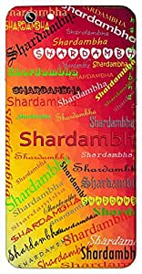 Shardambha (Goddess Saraswati) Name & Sign Printed All over customize & Personalized!! Protective back cover for your Smart Phone : HTC-816-G