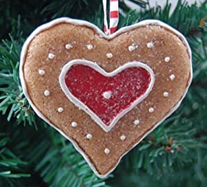 Gisela Graham Christmas Decoration - Gingerbread Heart ...
