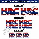 Pegatinas Stickers Honda HRC Racing Kit 08piezas Moto Motorbike Cod.0470