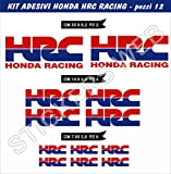 0470 Lot de 8 stickers Honda HRC Racing