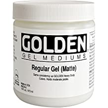 Golden Acrylic Medium: 473ml.. Gel Ordinario o Regular Mate""