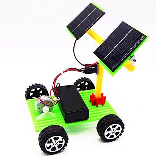Solar Auto Solarbetriebene Auto DIY Wissenschaft und Technologie Doppel Solarpanel elektrische Spielzeugautomodell Spielzeug