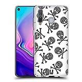 Head Case Designs White Background X Bone Skulls Patterns