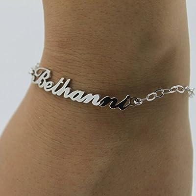 Bracelet Prénom style Carrie Bradshaw en Argent Plaqué Or 18ct