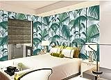 QXLML Tapeten Vliestapete chinesischen Stil Vintage Palmblätter Tapete Schlafzimmer Parlor TV Hintergrund Wand Papier 10 * 0.53 (M) ( Color : B )