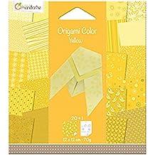 Avenue Mandarine 42680O Papier pour Origami Collor de 20 Feuilles, Camaieu de Jaune 12 X 12 Cm 70 G