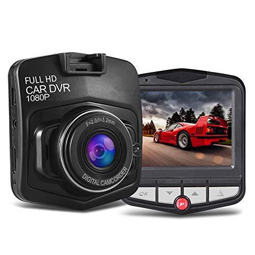 Mini Dash Cam FHD 1080P Telecamera per Auto con Obiettivo Grandangolare di 170° Super-Condensatore WDR Visione Notturna Dashcam,Videocamera Auto-Registrazione in Loop,G-Sensor