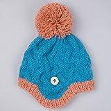 FEIFEI Herbst und Winter Junge und Mädchen Schöne Strickmütze Dicker Warm halten Schützen Sie das Ohr Baby Hut ( Farbe : Blau )