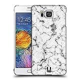 Head Case Designs Weiss Marmor Drucke Ruckseite Hülle für Samsung Galaxy Alpha