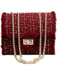 QUICKLYLY Bolso Mujer Bandolera Portatil Bolsa Mensajero Tote Shopper Callejero Bag Tirantes Carteras Mano Compras Mochilas
