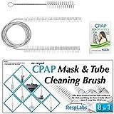 Masque CPAP et Tube Brosse de nettoyage par RespLabs médical | La plupart standard 22mm Fit Cuff, 19mm universel Diamètre intérieur BiPAP tubes | Le meilleur écouvillon CPAP