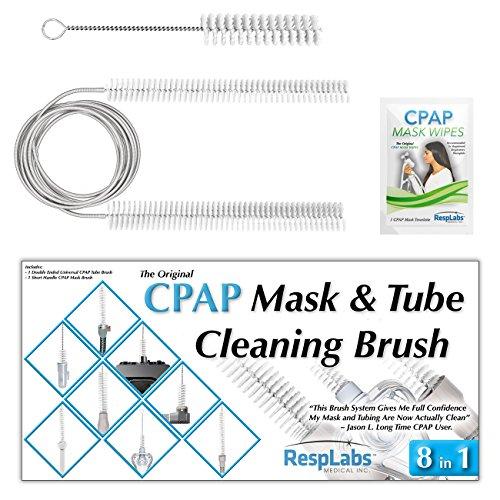 Cpap-maske Kopfbedeckung (CPAP-Maske und Reinigungsbürste von RespLabs Medical   Passend für die meisten Standard-22mm-Stulpe, Universal 19mm Innendurchmesser BiPAP Schlauch   Die beste CPAP Rohrbürste)