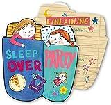 6 Einladungskarten * SLEEPOVER * für eine Übernachtungs-Party // von DH-Konzept // Kinder Geburtstag Party Einladung Einladungen Karte Mottoparty