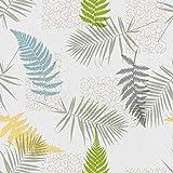 Mambo-Design Wachstuch Mimosa Grün · Eckig 140x100 cm · Länge wählbar· abwaschbare Tischdecke 0219 -
