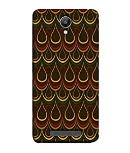 PrintVisa Designer Back Case Cover for Redmi Note 2 (Classy yellow red green brown rare)
