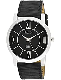 RELISH RE-S8020SB SLIM Black Dial Analog Watch For Mens & Boys