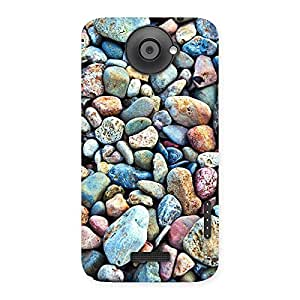 Impressive Pebbles Multicolor Back Case Cover for HTC One X