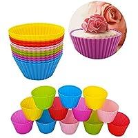DIKETE® 12 Silicone Muffin pirottini Muffin stampo Muffin torta Cup