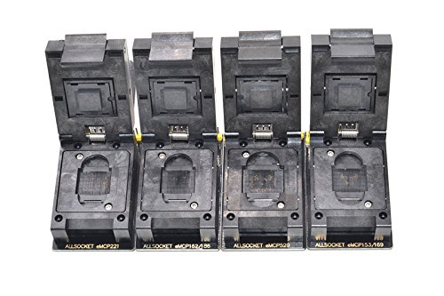 ALLSOCKET eMMC/eMCP-SD Adapter Kit BGA153/169, BGA162/186, BGA221, BGA529 Socket FBGA Flash Mobile Memory eMMC Programming Chip-off Data Extractor Reader(Black-SD Kit) (Compactflash-kit)