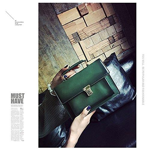 Yoome Casual Flap Bag per datazione Zigzag pieghevole retrò catena Top Handle Borse per le donne - verde verde