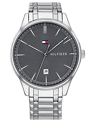Tommy Hilfiger Reloj Analógico para Hombre de Cuarzo con Correa en Acero Inoxidable 1791490