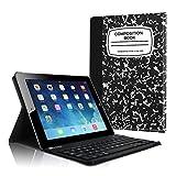 Fintie Tastatur Hülle für iPad 2 / iPad 3 / iPad 4 - Ultradünn leicht SlimShell Ständer Schutzhülle Keyboard Case mit magnetisch Abnehmbarer drahtloser Deutscher Bluetooth Tastatur, Notizblock