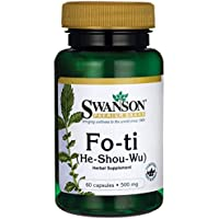 Swanson - Fo-ti (He Shou Wu) 500mg, 60 Kapseln - Stärkt das Immunsystem & Anti-Aging - 100% Natural Whole-Wurzel-Extrakt... preisvergleich bei billige-tabletten.eu
