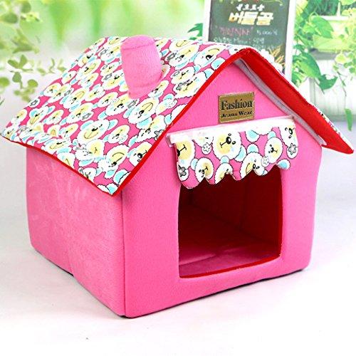 muodu Hund Haus Katze Bett für kleine Hunde und Katzen Tragbare Innen Pet House