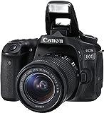 Canon EOS 80D 1263C034 SLR-Digitalkamera (24,2 Megapixel, 7,7 cm (3 Zoll) Display, DIGIC 6 Bildprozessor, NFC und WLAN, Full HD, Kit inkl. EF-S 18-55mm 1:3,5-5,6 IS STM) schwarz - 3