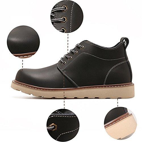 QIANGDA Stivali Da Neve Moda Uomini Caldi Inverno Casuale Scarpe Maschili, 3 Colori Opzionale ( Colore : Nero , dimensioni : EU41 = UK7.5 ) Black thicken