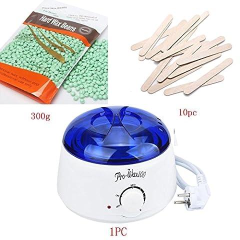 Gaddrt Haarentfernung Bohne Wiping Sticks Heißwachs Wärmer Heater Pot Depilatory Set Elektro Wachs Heizung Waxing Kit Enthaarung Warmwachs und Sticks, Bikini (F)